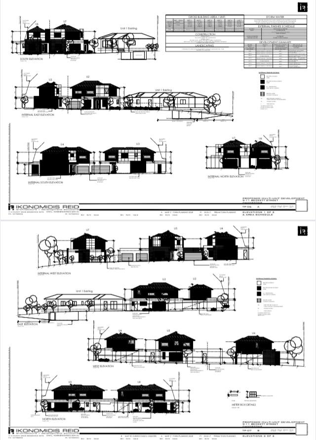 Chadstone x 6 townhouses - Plan